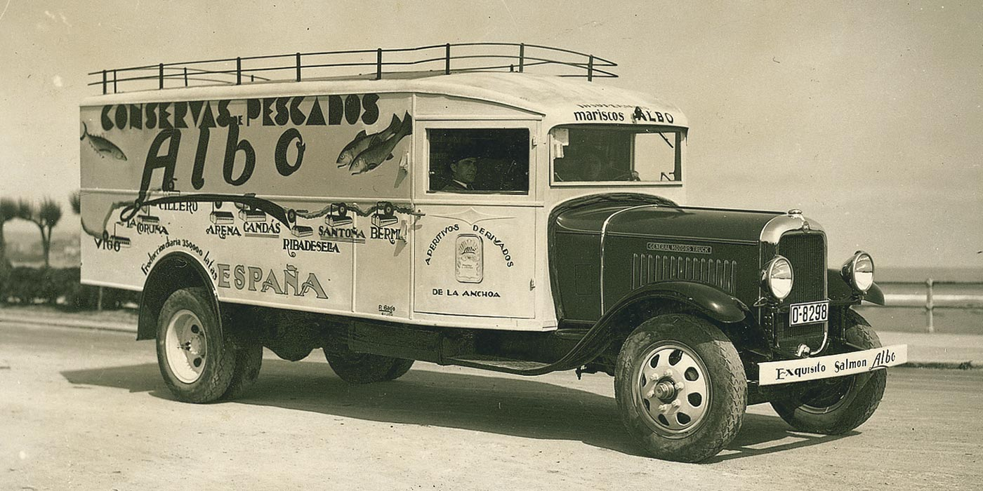 Camión de conservas de pescado Albo