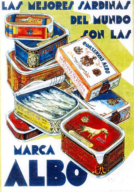 Cartel Albo Las mejores Sardinas