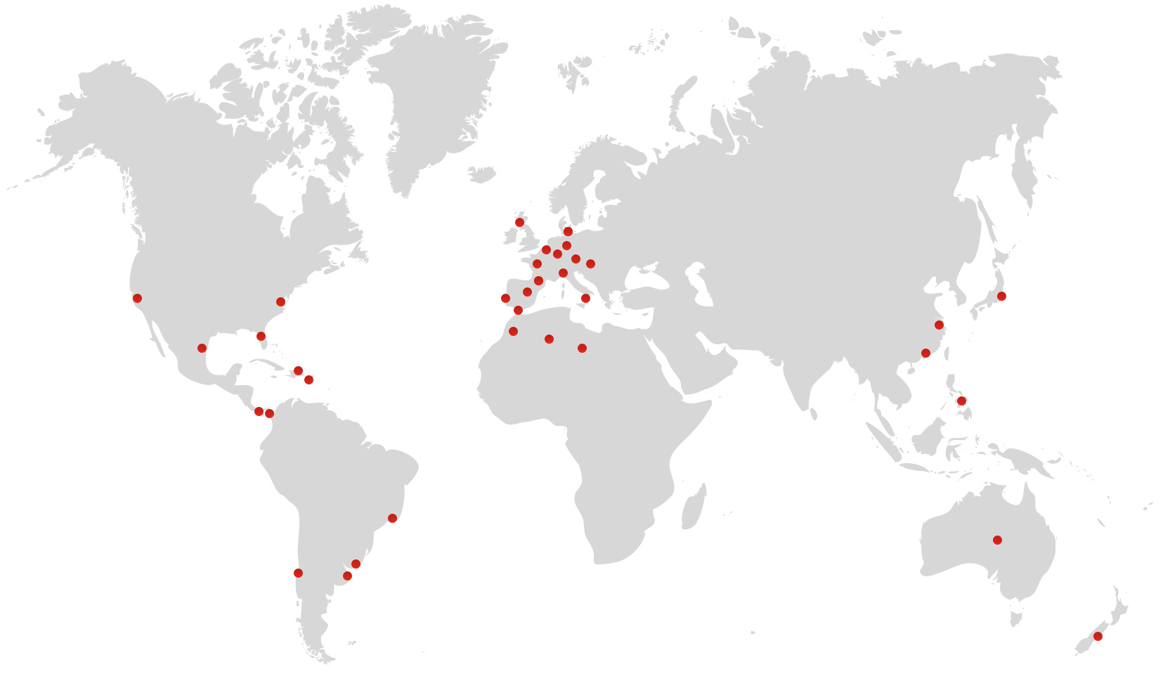 Mapa Presencia Internacional