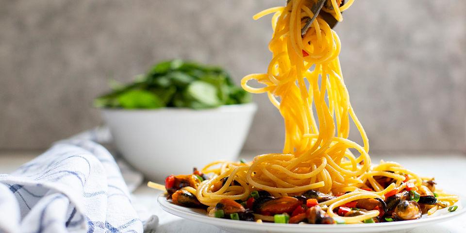 Spaghetti a la Marinera con mejillones ALBO