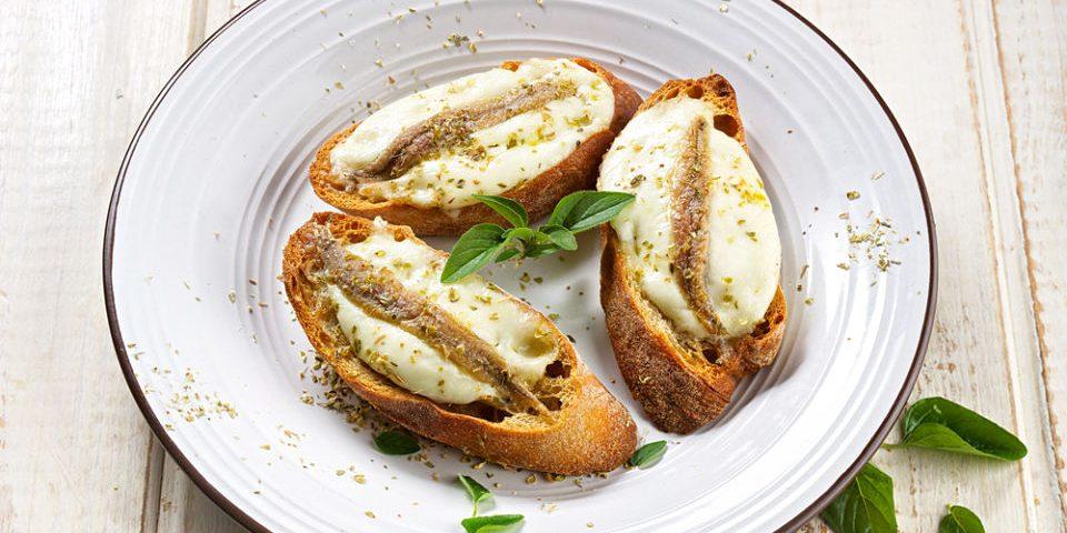 canape anchoas roquefort palmitos