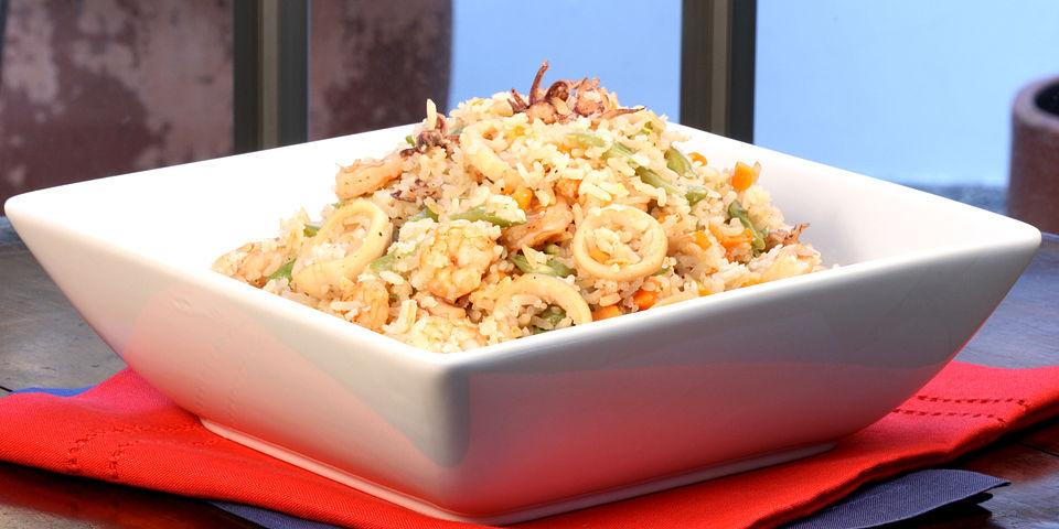 Receta ALBO arroz con pulpo y gambas