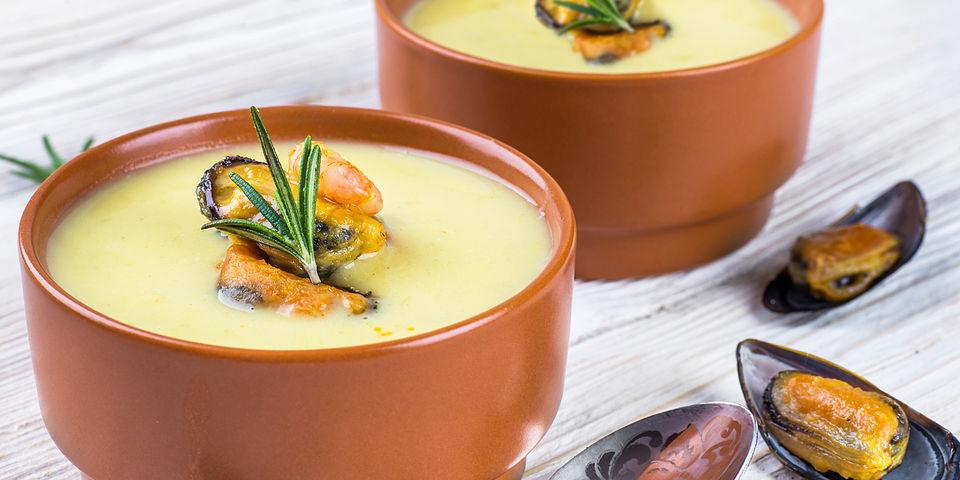 Sopa de mejillones ALBO con fideos