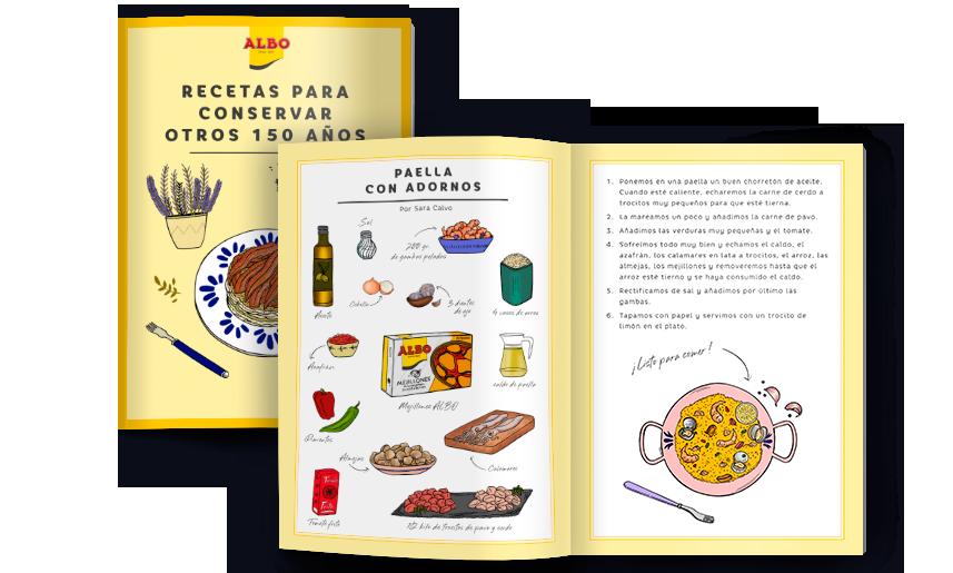 albo libro de recetas